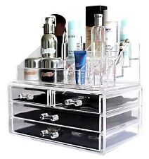 Cosmetic Makeup Jewelry Beauty Acrylic Case Drawer Tray Storage Organizer -NEW