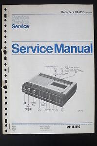 PHILIPS-Recorders-N2415-Original-Manuels-de-reparation-Manuelle-Amplificateur