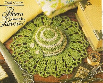 Pincushion Bonnet Crochet PATTERN INSTRUCTIONS from magazine Old-fashioned hat