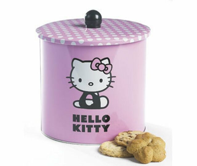 Job Lot 6 x Official Hello Kitty Biscuit Tins Cookie Storage Pink Container BNIB