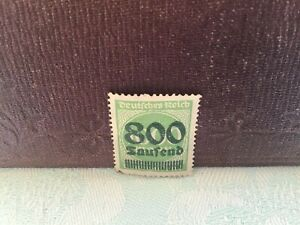 Deutrches-Reich-German-Empire-1923-Overprinted-cancelled-Stamp-800-on-1000-mark