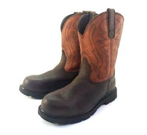 Ariat Men 039 s Groundbreaker Pull on Steel Safety Round Toe Boots