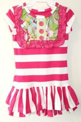 PERSNICKETY Girl/'s /'ALPINE DAISY/' Navy//White LOU LOU DRESS NWT 0-3 mos