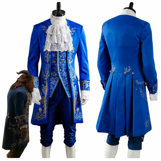 Sidnor Beauty And The Beast Prince Dan Stevens Blue Uniform Cosplay Costume O For Sale Online Ebay