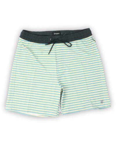 Brixton Mens Palmas Stretch Trunks Swim Shorts Aqua Safari M New