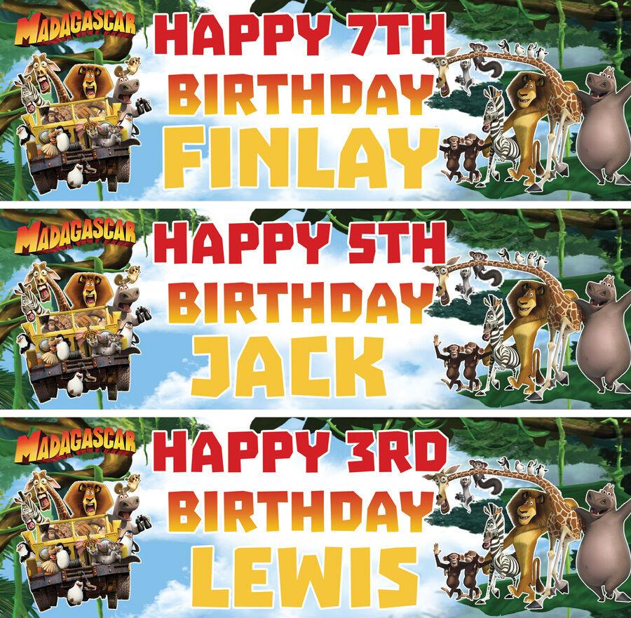 2 X personalized baby moana birthday banner chilidren nursery kids party deco