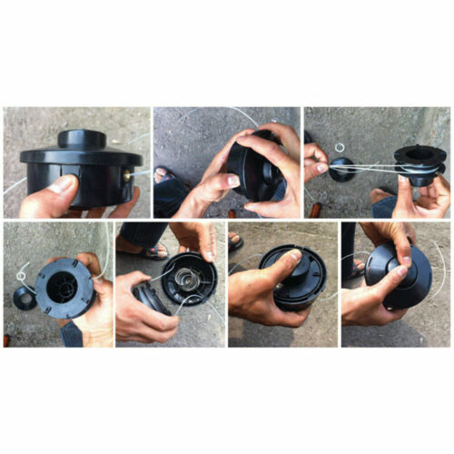 6X Profi Doppelfadenkopf Tippautomatik Spule//Fadenspule für Fuxtec Motorsense