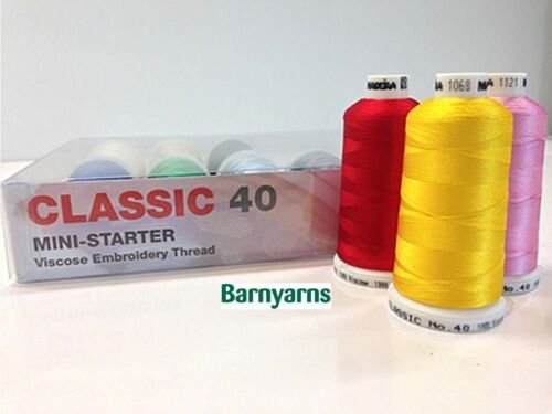 Madeira rayon Classic 40-10 Color Mini máquina de Kit de arranque hilo de bordar