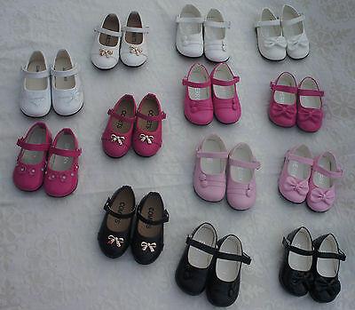 Mädchen Ballerinas Lackschuhe Baby Taufe weiß pink schwarz rosa NEU Gr.19-24