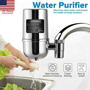 Faucet Water Filter Kitchen Sink Bathroom Home Mount Filtration Tap Purifier US