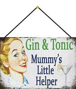 Gin-Tonic-Mummys-Helper-Sign-with-Cord-Metal-Tin-7-7-8x11-13-16in-FA0336-K