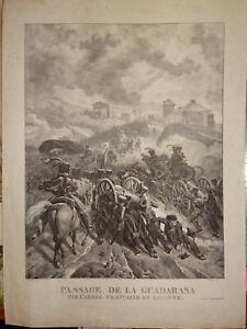 GRANDE-Litho-Sierra-Guadarrama-MADRID-ESPANA-PENINSULAR-WAR-NAPOLEON-EMPIRE-1820