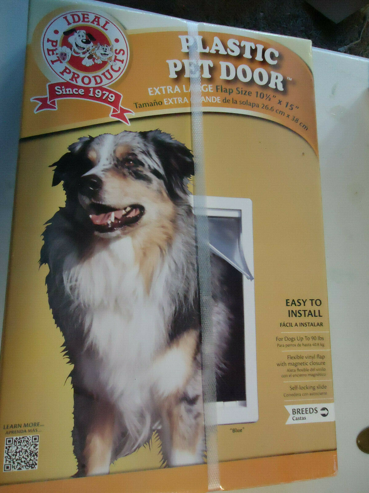 Ideal  Plastic Pet Door with Flap Model PPDXL 10.5  x 15   XL