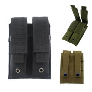 US-Tactical-Modular-Double-Mag-Pouch-Pistol-Mag-Holder-for-Hunting-Tool-bag