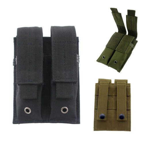 US Tactical Molle Double Magazine Pouch Pistol Mag Holder for Hunting