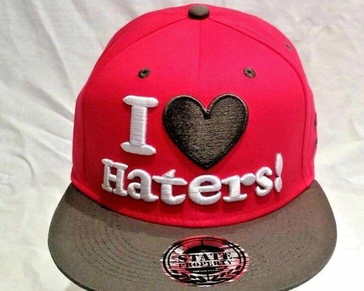 I Love Hasser Baseball Kappe Kinder & Erwachsene Urban Hip Hop Pink/Grau Street