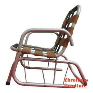 purchase cheap 298f7 e0d0c Details about Vintage Mid Century Child's Aluminum Glider Porch Patio Chair