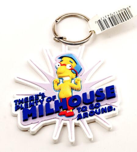 NEW Universal Studios The Simpsons Plenty of Milhouse Rubber Keychain
