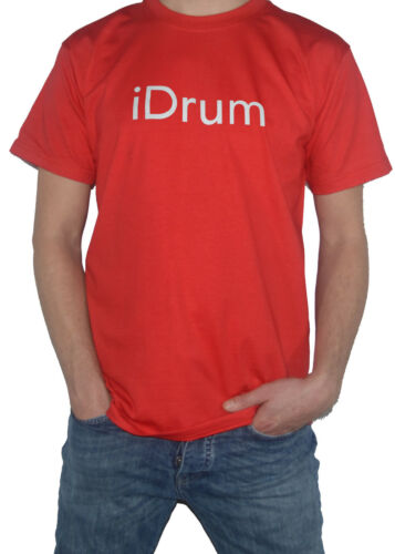 Drum Drumming Parody Tee NEW iDrum Funny Slogan T-SHIRT for Drummers Drums
