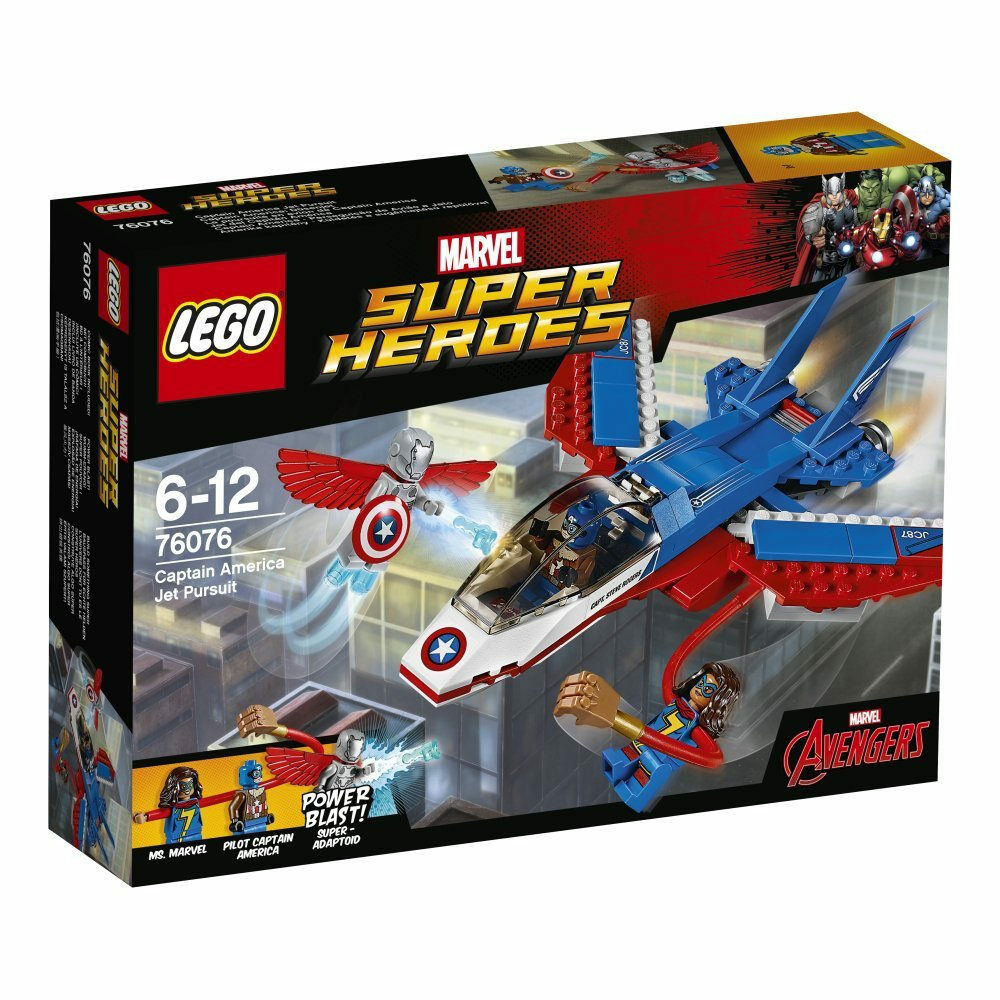 LEGO Marvel Super Heroes 76076  Captain America Jet Pursuit - Brand New