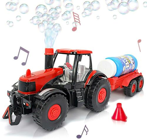 Battery Operated Toy Bubble Farmer Tractor Toy Kids Bubble Toy