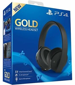 Cuffie Sony Gold Wireless Headset Black per Ps4 Nuove sigillate