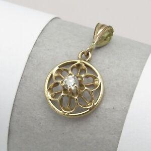 Antique-Victorian-Edwardian-10k-Gold-Diamond-Miniature-Lavaliere-Pendant
