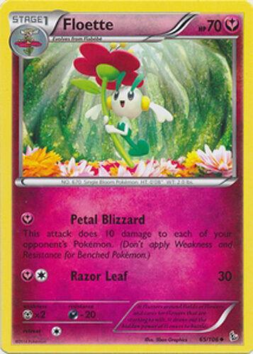 4x Pokemon XY Flashfire Floette 65//106 Uncommon Card