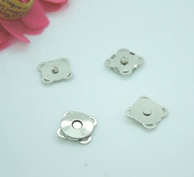 20sets 10mm Silver Tone Magnetic Snaps Bag Purse Sew On Magnetic Snaps Buttons