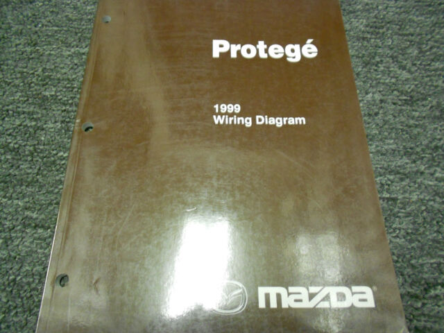 1999 Mazda Protege Electrical Wiring Diagram Service
