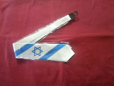 Neck tie Israeli flag blue&white 1 Star of David Judaic Jewish Hebrew