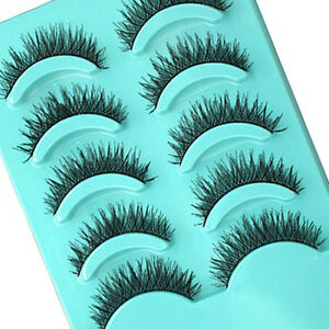 5-Pairs-Makeup-Handmade-Pretty-Long-Thick-Cross-False-Eyelashes-Eye-Lashes-top