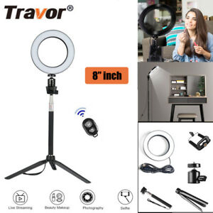 """8"""" LED Ring Light with Stand Lighting Kit camera light for Youtube Live Makeup 753936237599"""