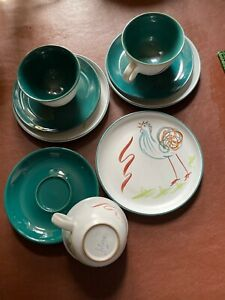 Denby-Trios-Times-3-Cups-Plates-And-Saucers