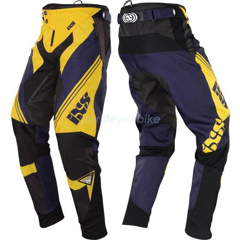IXS RUCLAR DOWNHILL PANTS FAHRRAD HOSEN BMX LANG ENDURO DH RACE FREERIDE 4X GELB