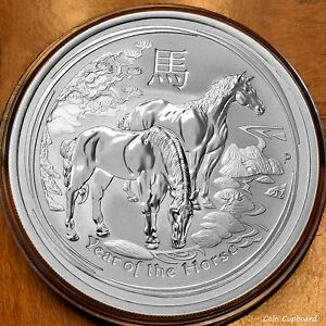 2014 1//2 oz .999 silver Year of the Horse coin