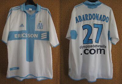 Maillot Olympique Marseille Abardonado Adidas Ericsson OM Vintage Jersey L   eBay