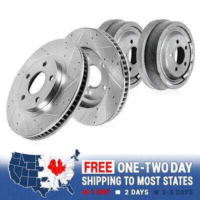 2 99-04 Jeep Grand Cherokee Rear Brake Rotors /& Quiet Stop Metallic Pads