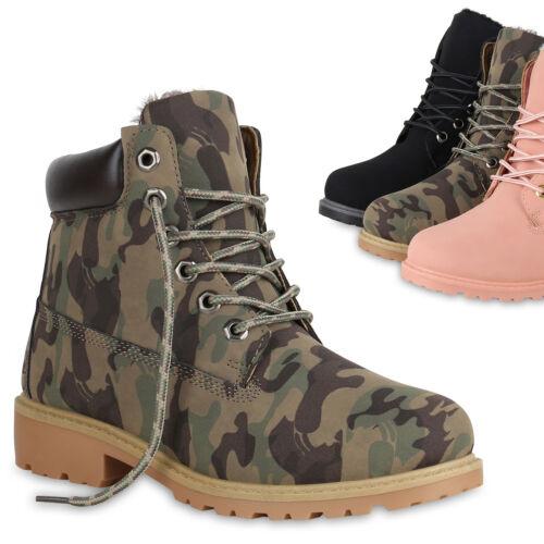 893833 Damen Worker Boots Warm Gefütterte Stiefeletten Outdoor Schuhe Trendy
