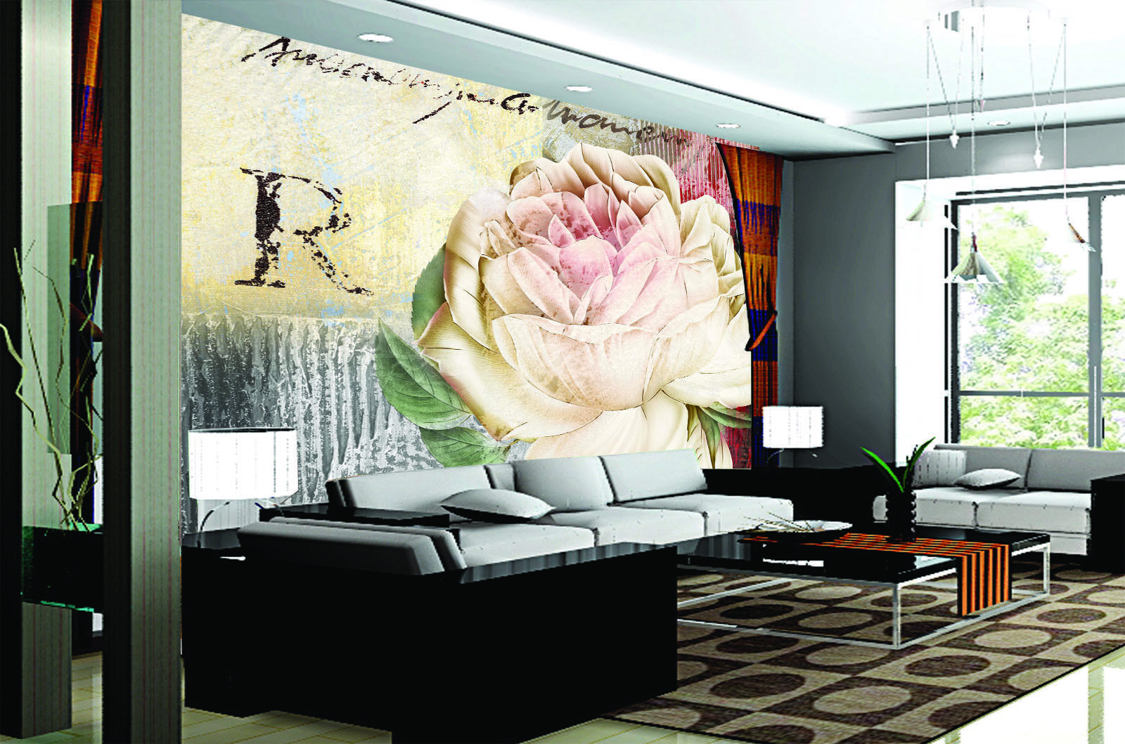 3D Flower Rose Sign 452 Wall Paper Wall Print Decal Wall Deco Indoor Mural Carly