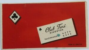Vintage-Blotter-Club-Taxi-Kingston-Ontario-Somewhat-used-nice-colours