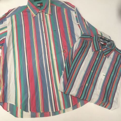 Vintage Tommy Hilfiger Mens Medium Multi Colored S