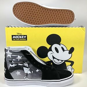 ea55747935 VANS x Disney SK8-HI Mickey Mouse Plane Crazy Shoes Mens 90th ...
