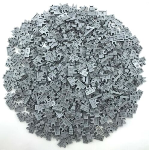 Lego 500 New Light Bluish Gray Plates Modified 1 x 2 with Small Towball Socket