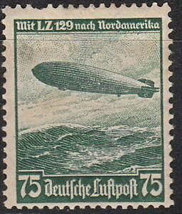 Stamp-Germany-Mi-607-Sc-C58-1936-Reich-Airship-Airmail-Hindenburg-Zeppelin-MH