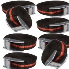 8 Black & Red CAM Fibbia Tie Down Straps PORTAPACCHI Rimorchi 25 x 2500 mm di lunghezza