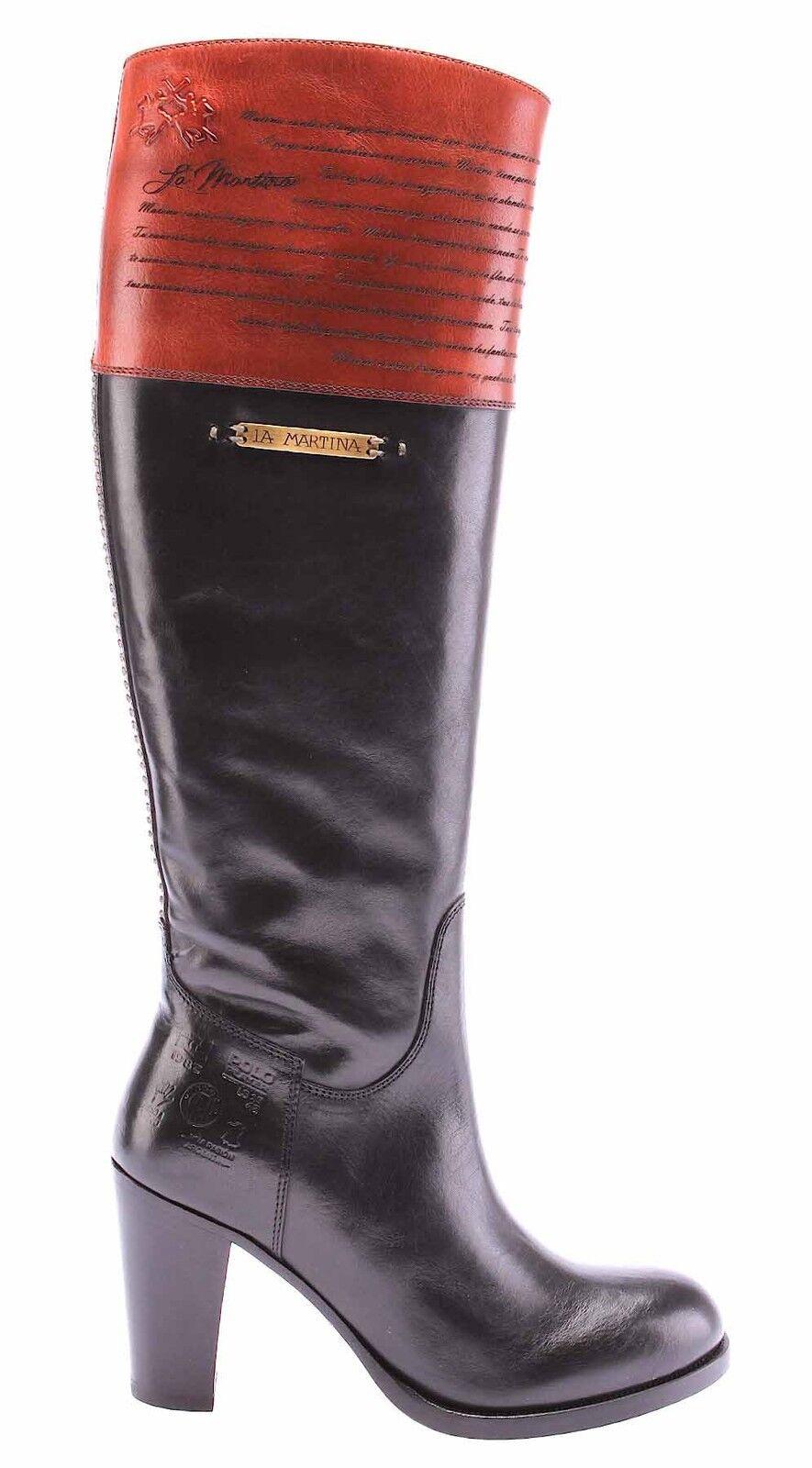 Damen Boot Stiefel Boot Damen Schuhe LA MARTINA L7105226 Cuero Nero Cuero Brandy Leder Neue beebbb