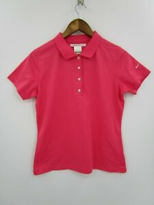 Nike-Golf-Dri-Fit-Women-039-s-Pink-Short-Sleeve-Golf-Polo-Shirt-Size-S