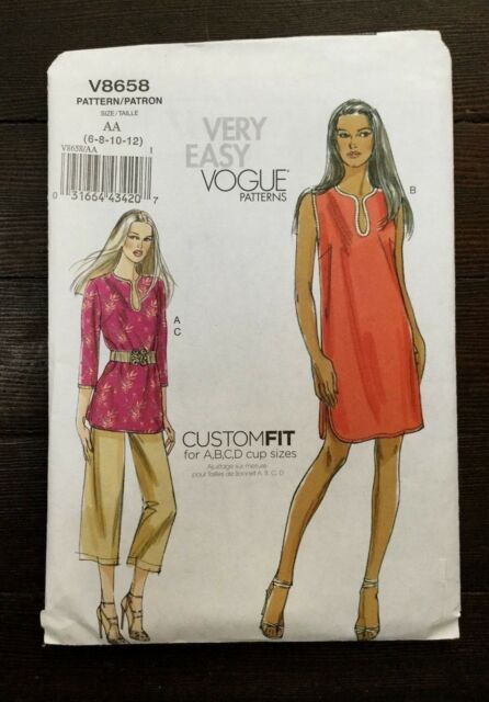 Misses Dress Size 6-22 Vogue V9265 Very Easy Custom Fit PATTERN