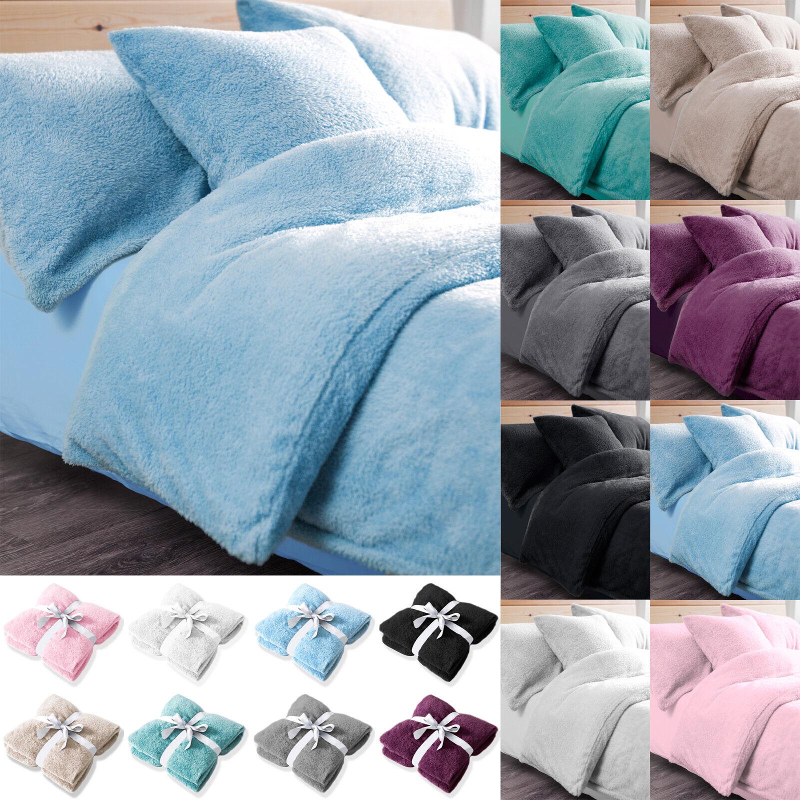 Teddy Duvet Cover Sets Throw Single Double King Größes Super Quilt Fleece Bedding